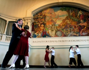 Dancing performance at City Hall's Kyrouz Auditorium
